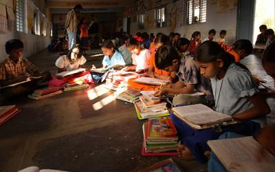 Escuela en India, cooperación al desarrollo de Cocina Económica