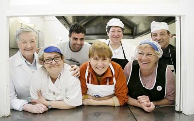 Equipo del comedor social de Cocina Económica de Logroño