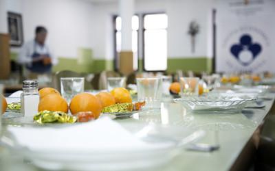 Detalle de comedor social de Cocina Económica de Logroño