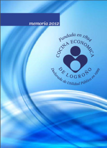 Memoria 2012 de Cocina Económica de Logroño