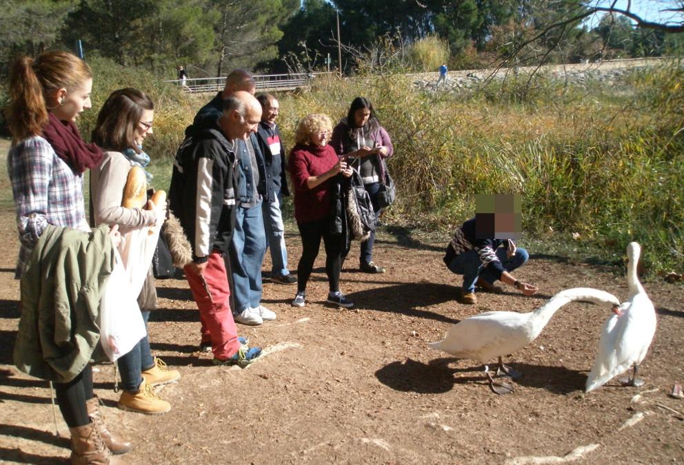 Visita al parque de La Grajera de usuarios y equipo del PAAI