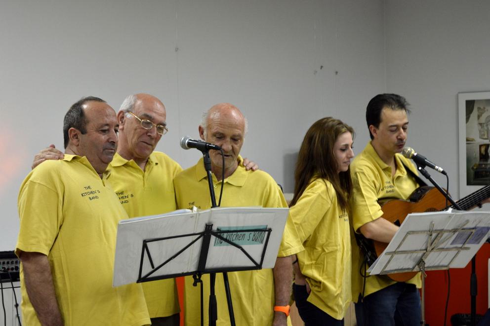 Actuación de 'The kitchen's band' en un Hogar de Mayores