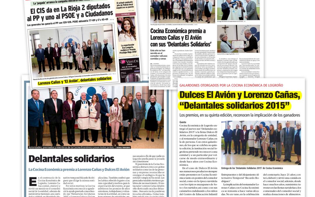 """Los """"Delantales solidarios 2015"""" de Cocina en prensa"""