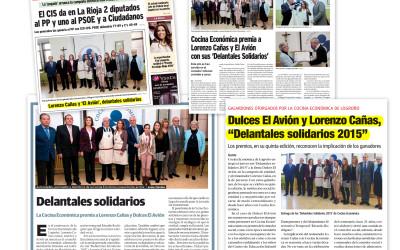 Los «Delantales solidarios 2015» de Cocina en prensa
