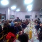 Fue una cena multitudinaria.