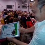 Diploma para David, un colaborador de Cocina Económica de Logroño.