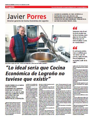 Entrevista a Javier Porres en el periódico Gente en Logroño