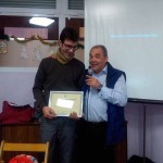 Diploma de reconocimiento a Óscar.