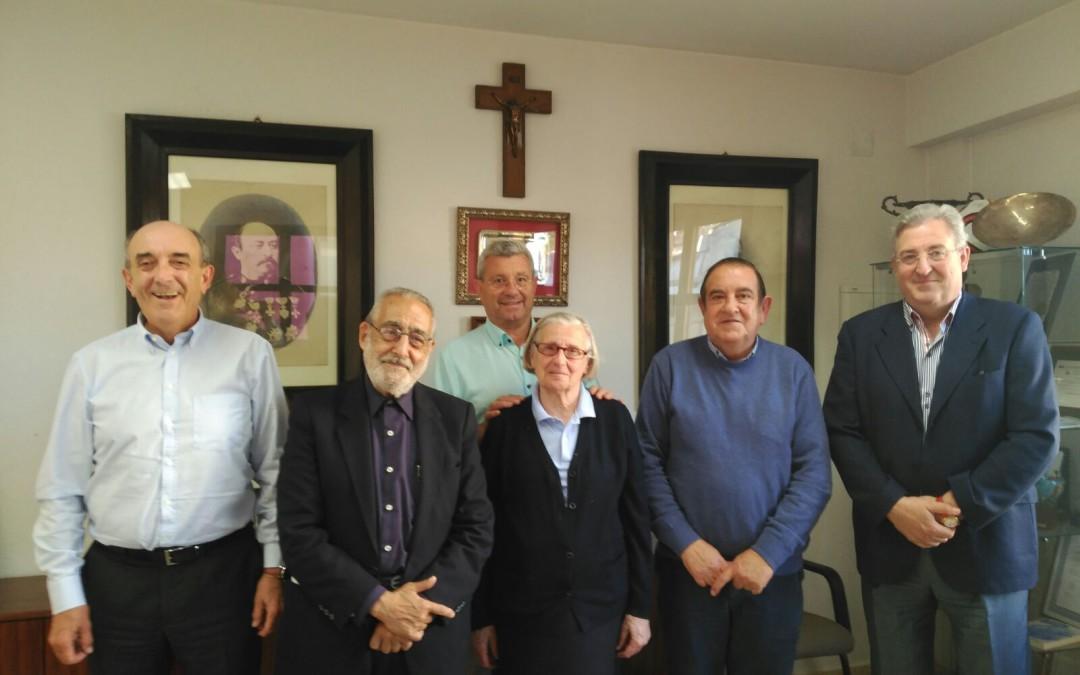 Visita del padre José Alfaro a la Junta Directiva